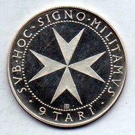 MALTA (ORDER OF), 9 Tari, Silver, Year 1967, KM #M18 - Malta