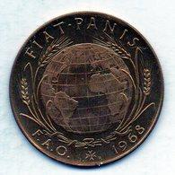 MALTA (ORDER OF), F.A.O., 2 Tari, Bronze, Year 1968, KM #M23. PROOF - Malta