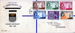 NORTHERN RHODESIA  1953 RHODES CENTENARY  FDC - Northern Rhodesia (...-1963)