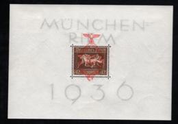 1937 1. Aug. Galopprennen Mi DR BL10 Sn DE B105 Yt DR BF7 Sg DR MS637a Mit Falz - Deutschland