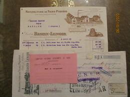 Limoges Bastin Lenoir Tiges Piquees Guetres Molletieres 1921 - Kleidung & Textil