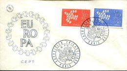 FDC Europa - Paris 16-9-1961 - 1960-1969