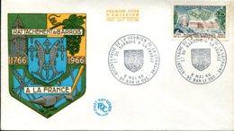 FDC Bicentenaire Du La Réunion D La Lorraine Et Du Barrois à La France - Bar Les Duc (55) - 6 Mai 1966 - 1960-1969