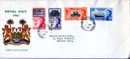SIERRA LEONE  1961  ROYAL VISIT  FDC - Sierra Leone (...-1960)