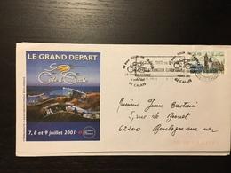 Calais Tour De France 2001 - Marcophilie (Lettres)