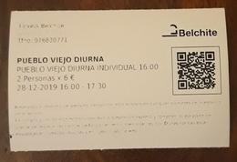 BELCHITE. PUEBLO VIEJO GUERRA CIVIL. TICKET PARA 2 PERSONAS. - Tickets - Entradas