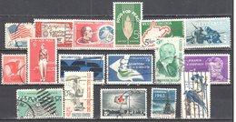 United States 1963 Year Set - Mi.838-54 Used - Años Completos