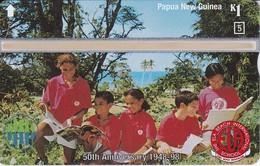 TARJETA DE PAPUA Y NUEVA GUINEA 50 ANIVERSARIO SCHOOL (806F) (NUEVA-MINT) - Papua-Neuguinea