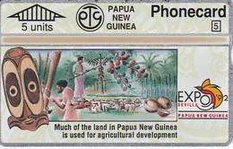TARJETA DE PAPUA Y NUEVA GUINEA EXPO 92 SEVILLA (306D) (NUEVA-MINT) - Papua Nueva Guinea