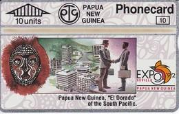 TARJETA DE PAPUA Y NUEVA GUINEA EXPO 92 SEVILLA (306D) (NUEVA-MINT) - Papouasie-Nouvelle-Guinée
