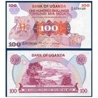 BILLET OUGANDA 100 SHILLINGS - Ouganda
