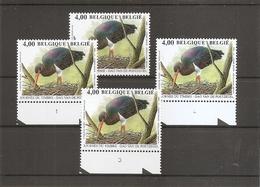Belgique - Buzin - Cigogne Noire ( 3388 + Planches 1 à 3  XXX -MNH) - Plate Numbers