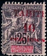 Tahiti YT 31 N* Surcharge Décalée, Défaut Cote 12.00 - Tahiti (1882-1915)