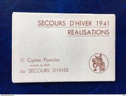 """Pochette Complète-10 Cp Sur Les-""""Secours D'Hiver En 1941-les Réalisations"""" - Rode Kruis"""