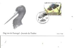 Belgique - Buzin - Cigogne Noire ( 3388  En FDC De 2005 à Voir) - FDC