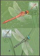 Aland Islands - Dragonflies, Set Of 2 Maximum Cards, 2012 - Sonstige
