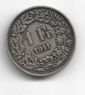 1 Franc Suisse En Argent 1911 - Svizzera