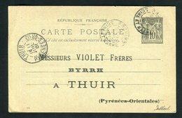 Rare Entier Postal BYRRH De Provins Pour Thuir ( 1901 ) - Marcofilia (sobres)