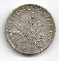 2 Francs Argent 1916 - France
