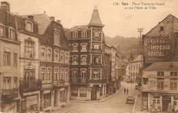 Spa : Place Pierre-le-Grand Et Rue Hôtel De Ville 1925 - Spa