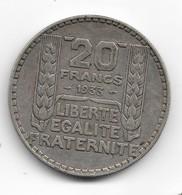 20 Francs Turin Argent 1933 - Francia
