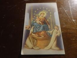 CARTOLINA MADONNA DEL ROSARIO AVE MARIA VIAGGIATA CON COPPIA 5 LIRE ITALIA AL LAVORO-CON ANNULLO NICOSIA-1953 - Vergine Maria E Madonne