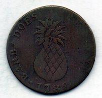 BARBADOS, 1 Penny, Copper, Year 1788, KM #Tn8 - Barbados