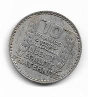 20 Francs Turin Argent 1938 - K. 10 Francs