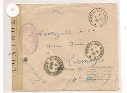 1940 ENVELOPPE F.M. . AVEC CENSURE   POUR LIMOGES ALES (HAUTE-VIENNE) - Marcophilie (Lettres)