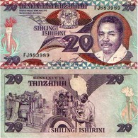 BILLET TANZANIE 20 SHILLING - Tanzanie