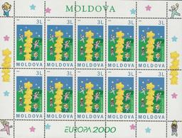 "MOLDAVIA/ MOLDOVA/ MOLDAWIEN/ MOLDAU- EUROPA-CEPT 2000 -TEMA  "" EUROPA 2000 "".- SHEET Of 10 STAMPS - MNH *** - 2000"