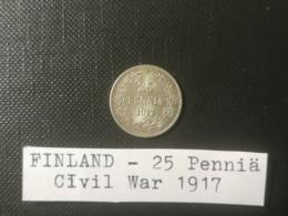 FINLANDE/Finland - 25 Penniä 1917 - SANS CORONNE/Without A Crown - Finlande