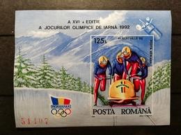 Roumanie 1992 Y&T N°216 ** JO Albertville 92 - Blocs-feuillets