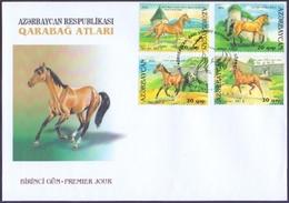 Azerbaijan - Karabakh Horses, FDC With Stamps, 2006 - Pferde