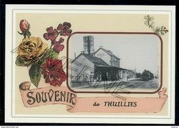 THUILLIES  ...  2 Cartes Souvenirs Gare ... Train  Creations Modernes Série Limitée - Thuin