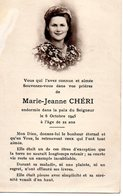SOUVENEZ VOUS DANS VOS PRIERES DE MARIE JEANNE CHERI - Autres