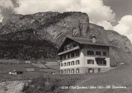 SELVA-BOLZANO-VAL GARDENA-ALBERGO=BIANCANEVE=CARTOLINA VERA FOTOGRAFIA-VIAGGIATA IL 1-9-1956 - Bolzano