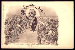 President De France Mr.LOUBET Visite ALGERIA. Politic Caricature Artist BERGERER / ASSUS 1900s Postcard FRANCE - Bergeret