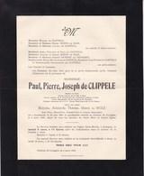 ALOST AALST Paul De CLIPELLE Ancien échevin Veuf De WOLF  Ancien Bourgmestre GYSEGEM GRAMMONT 1864-1947 MOENS - Décès
