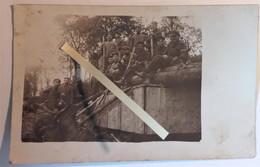1916 Bunker Blockhaus Fortifications Allemandes En Bois  Tranchée Poilu WW1 14/18 Carte Photo - War, Military