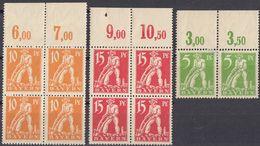 BAYERN - Lotto Di 10 Valori Nuovi MH: Yvert 177 (2 Uniti Fra Loro), Quartina 178 E Quartina 179, Tutti Con Margini - Bavaria