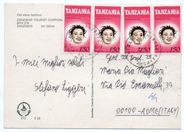 TANZANIA - OLD SLAVE HARBOUR - ZANZIBAR/THEMATIC STAMPS-TRADITIONAL HAIR STYLES - Tanzania