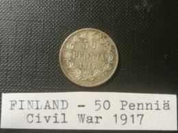 FINLANDE/Finland - 50 Penniä 1917 - SPL/AU - GUERRE CIVILE/Civil War - Finlande