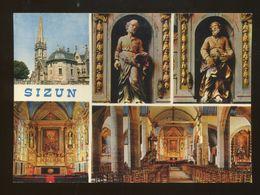 Sizun (29) : L'église, Les Statues De St Pierre Et Paul, Le Retable Du Maitre-autel Et Le Transept - Sizun