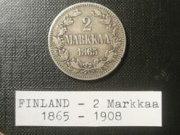 FINLANDE/Finland - 2 Markkaa 1865 - Finlande