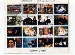 AJMAN STATE  - CINDERELLA - Uomini Famosi - Famous Men -  - SHEET - Celebrità