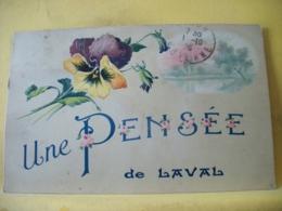 53 753 RARE CPA 1923 - 53 LAVAL. UNE PENSEE DE LAVAL. EDIT. J. MALICOT N° 651 - Laval