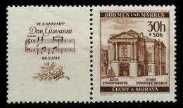 BÖHMEN MÄHREN ZUSAMMENDRUCKE Nr WZd28 Postfrisch WAAGR X7B67DE - Bohemia & Moravia