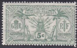New Hebrides, Scott #11, Mint Hinged, New Hebrides, Idols, Issued 1911 - French Legend