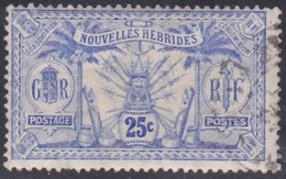 New Hebrides, Scott #14, Used, New Hebrides, Idols, Issued 1911 - French Legend